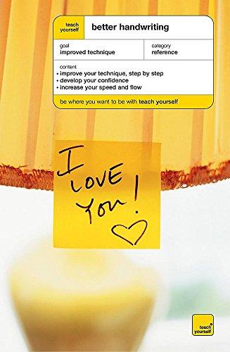 Teach Yourself Better Handwriting By Rosemary Sassoon