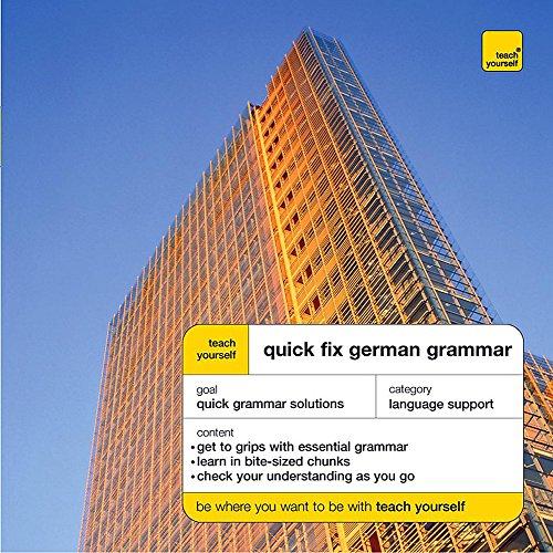 Teach Yourself Quick Fix German Grammar By Susan Ashworth-Fiedler