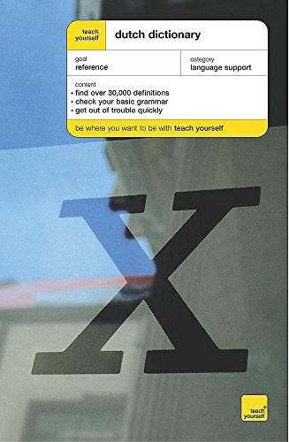 Teach Yourself Dutch Dictionary By Peter King