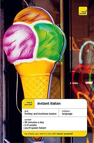 Teach Yourself Instant Italian By Elisabeth Smith