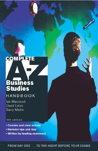 Complete A-Z Business Studies Handbook By David Lines