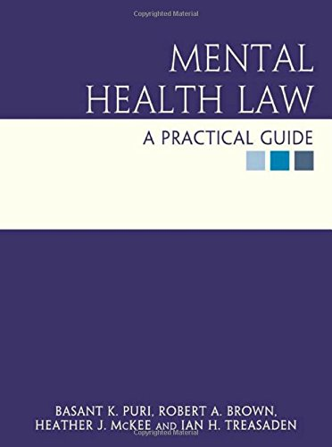 Mental Health Law: a practical guide by Rob Brown