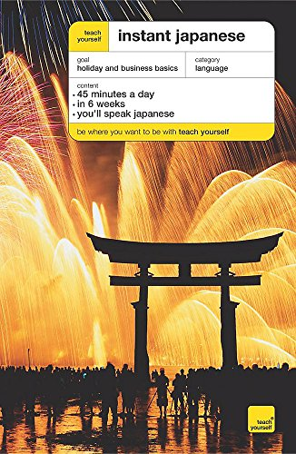 Teach Yourself Instant Japanese Third Edition Book By Elisabeth Smith