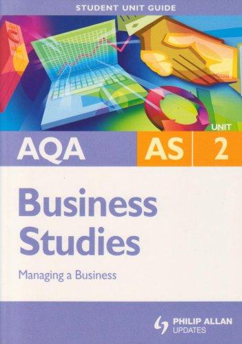 AQA AS Business Studies By Isobel Rolitt James