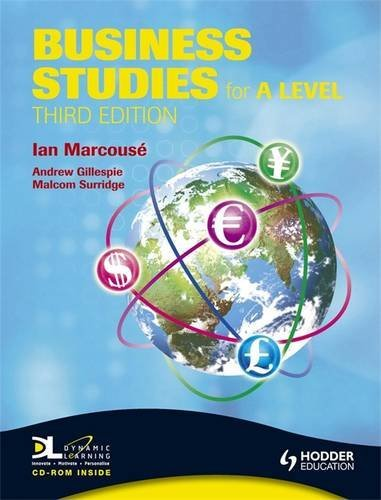 Business Studies for A Level By Ian Marcouse