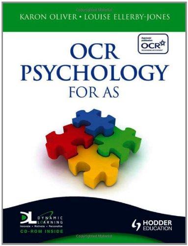 OCR Psychology for AS By Karon Oliver