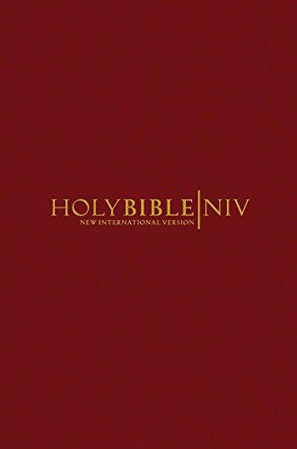 NIV Popular Burgundy Hardback Bible By Uk International Bible Society