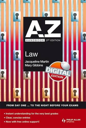 A-Z Law Handbook + Online 4th Edition (Complete A-Z) By Jacqueline Martin