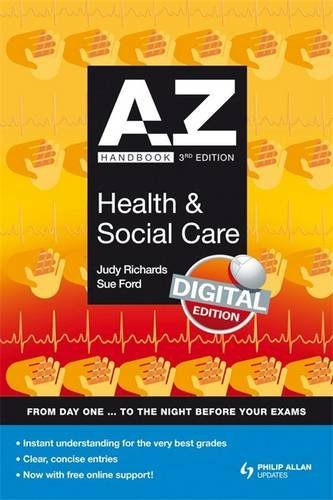 A-Z Health and Social Care Handbook + Online By Judy Richards