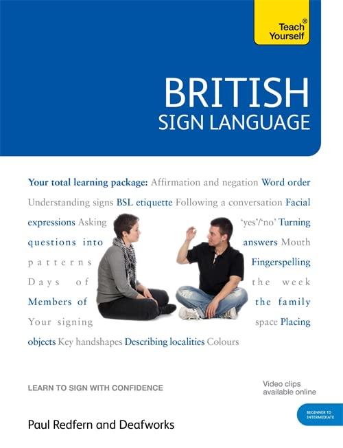 British Sign Language: Teach Yourself By Paul Redfern