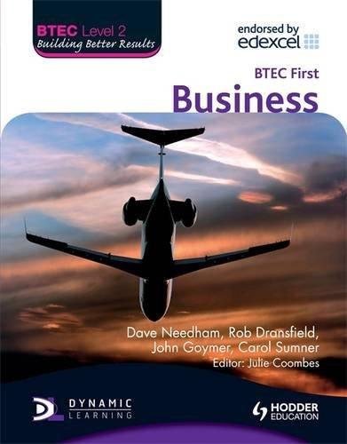 BTEC Level 2 First Business By Dave Needham