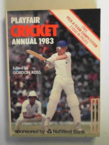 Playfair Cricket Annual 1983 By Gordon (ed.) Ross