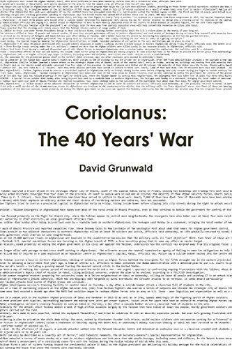 Coriolanus By David Grunwald