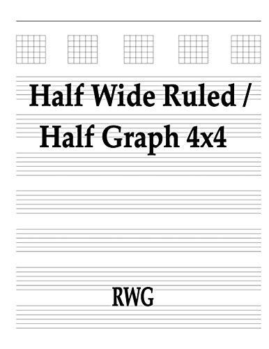 Half Wide Ruled / Half Graph 4x4 By Rwg