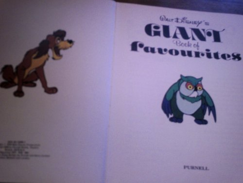 Giant Book of Favourites By Walt Disney
