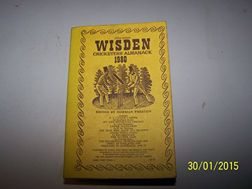 Wisden Cricketers' Almanack 1980 Paperback Book The Cheap Fast Free Post