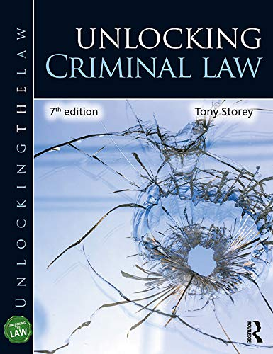Unlocking Criminal Law By Tony Storey