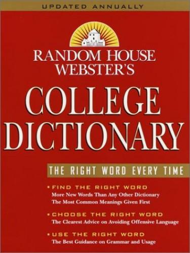 Random House Webster's College Dictionary By Random House Inc