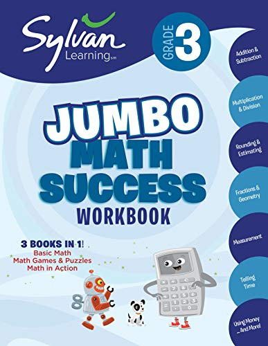 Third Grade Super Math Success (Sylvan Super Workbooks) By Sylvan Learning