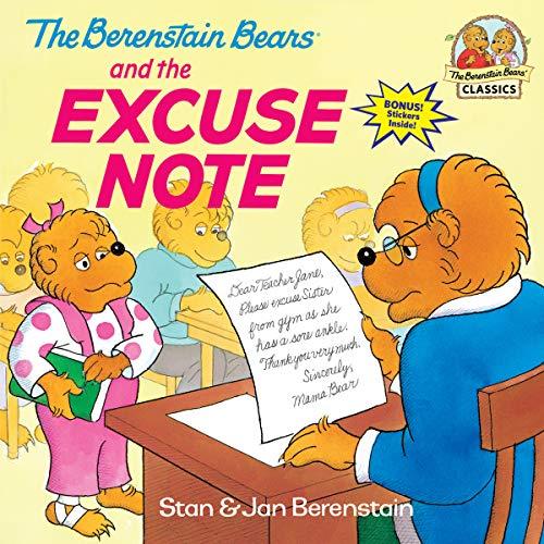Berenstain Bears Excuse Note By Jan Berenstain