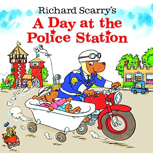 A Day At The Police Station By Huck Scarry
