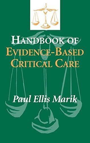 Handbook of Evidence-based Critical Care By Paul E. Marik