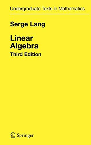 Linear Algebra By Serge Lang