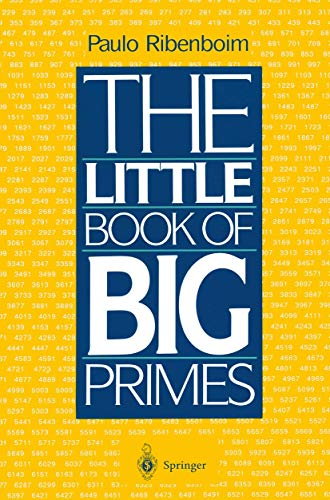 The Little Book of Big Primes By Paolo Ribenboim