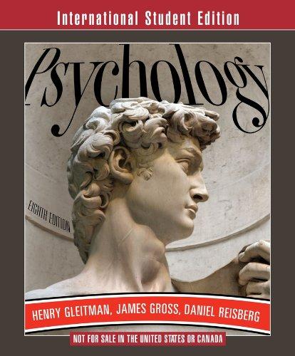 Psychology By Henry Gleitman