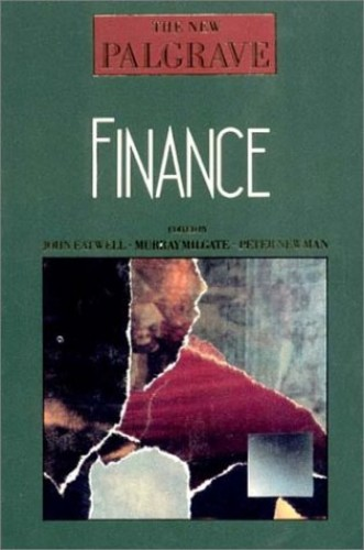 New Palgrave Finance By John Eatwell