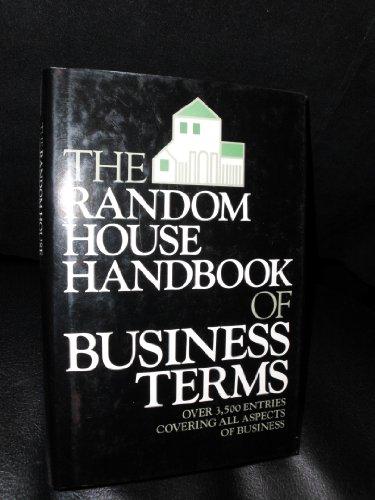 The Random House Handbook of Business Terms By Jay N Nisberg