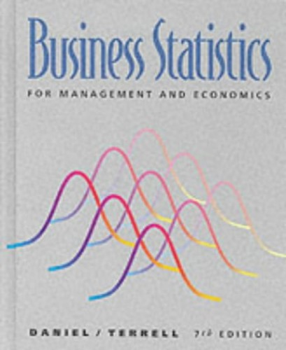 Business Statistics for Management and Economics By Wayne W. Daniel