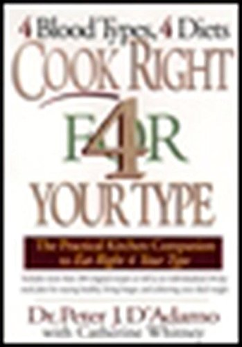 Cook Right 4 Your Type By Peter H. D'Adamo