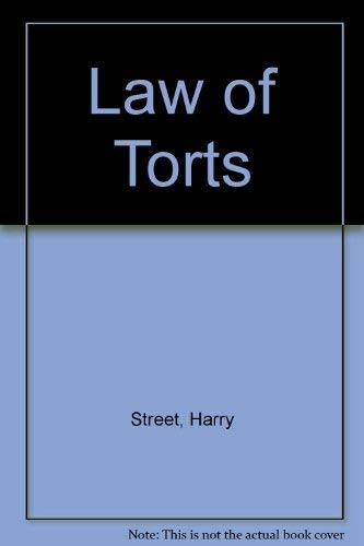 Law of Torts By Harry Street