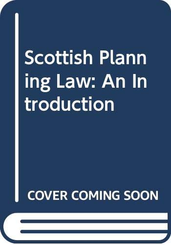 Scottish Planning Law By A. McAllister
