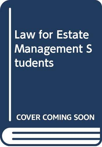 Law for Estate Management Students By Richard Card