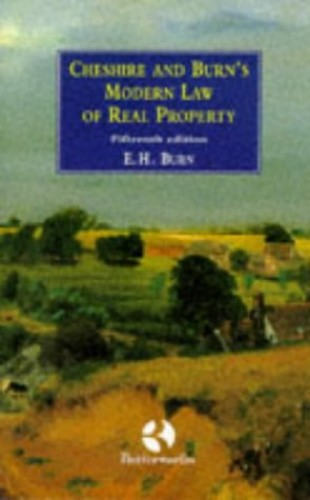 Modern Law of Real Property By G.C. Cheshire
