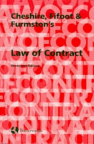 Cheshire, Fifoot and Furmston's Law of Contract By G.C. Cheshire