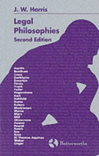 Legal Philosophies By J.W. Harris