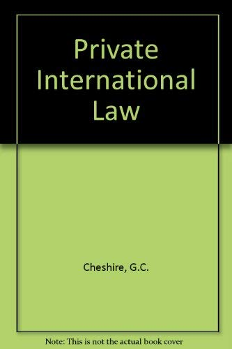 Private International Law By G.C. Cheshire