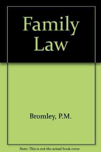Family Law By P.M. Bromley
