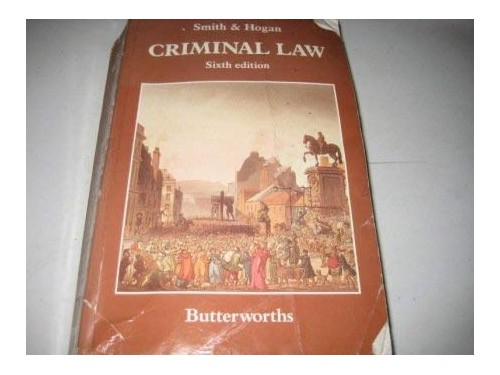 Criminal Law By J. C. Smith