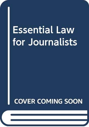 Essential Law for Journalists By L.C.J. McNae
