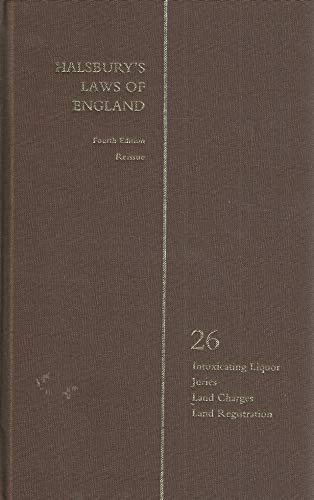 Halsbury?s Laws of England 4th Edition Volume 26 Reissue