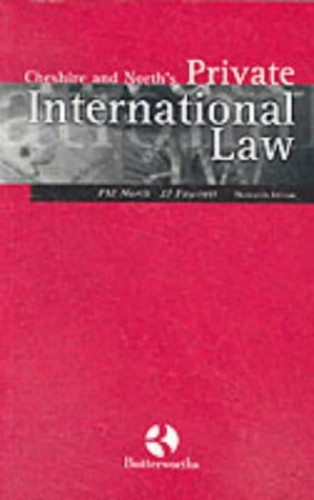 Cheshire and North's Private International Law By Peter North