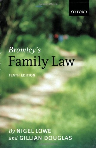 Bromley's Family Law By Gillian Douglas