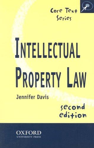 Intellectual Property Law By Jennifer Davis