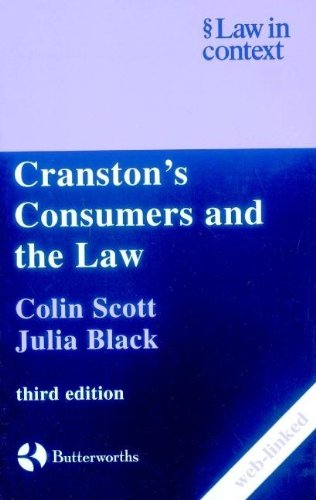 Cranston's Consumers and the Law By Ross Cranston