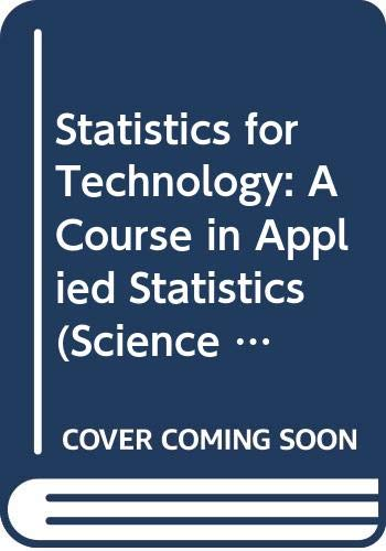 Statistics for Technology By Chris Chatfield