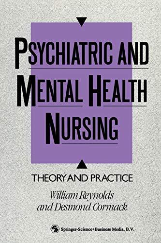 Psychiatric and Mental Health Nursing By Desmond Cormack